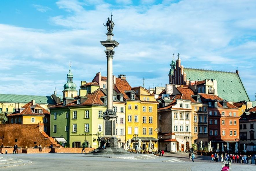 Castle Square, Old Town, Warsaw, Poland