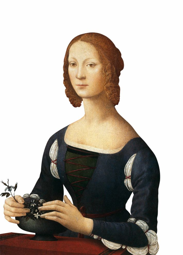 A 1481-1483 portrait by Lorenzo di Credi of the ruler of Forlì and Imola, Caterina Sforza, ...