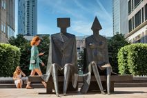 Couple on Seat by Lynn Chadwick is one over over 70 public artworks to be found in ...