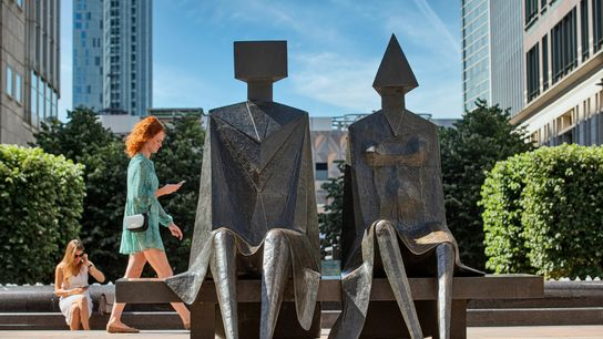 Couple on Seatby Lynn Chadwick is one over over 70 public artworks to be found in ...