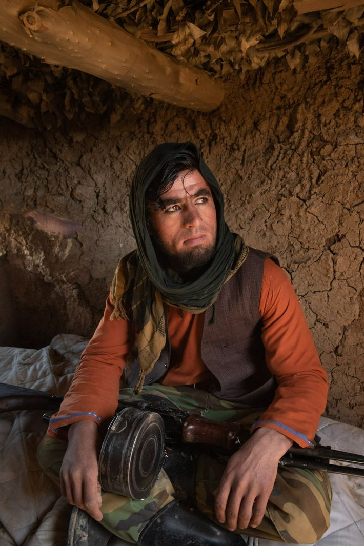 Azimullah, 24, a pro-government fighter, was killed by the Taliban in the July 2-3 battle for Karsai ...