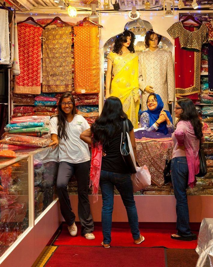 Shop for a beautiful array of authentic Indian fashions at Chandan, in Toronto's Little India neighbourhood.