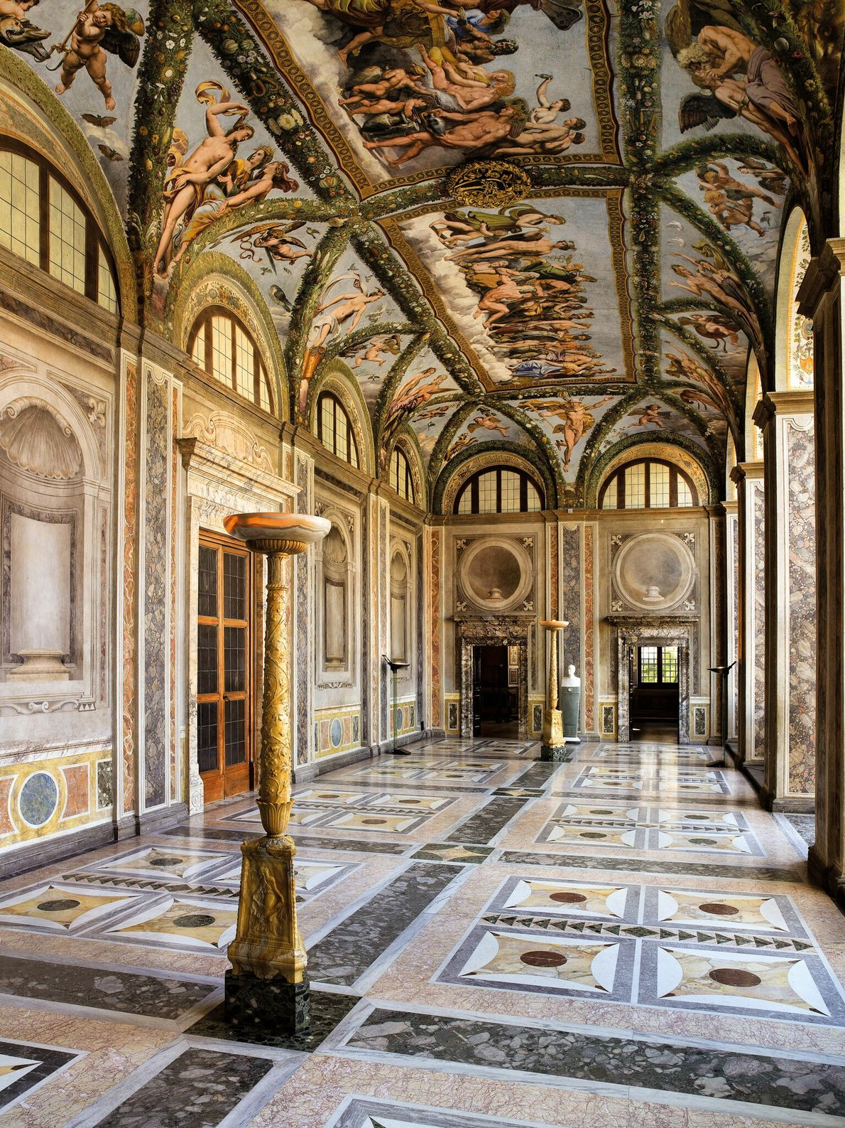 Cardinal Alessandro Farnese aquired the Chigi Family mansion in 1580 and gave the villa its current ...