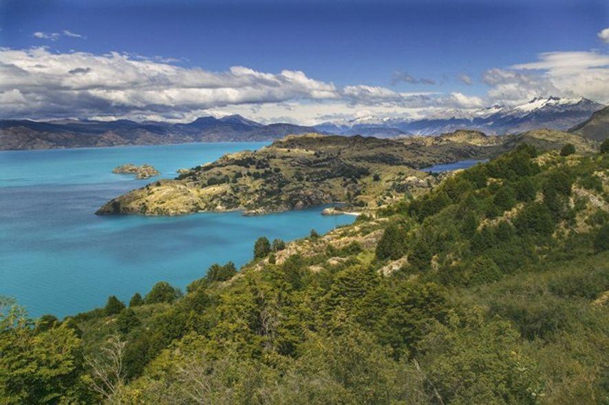 Lago General Carrera, near Puerto Rio Tranquilo. Credit: Alamy
