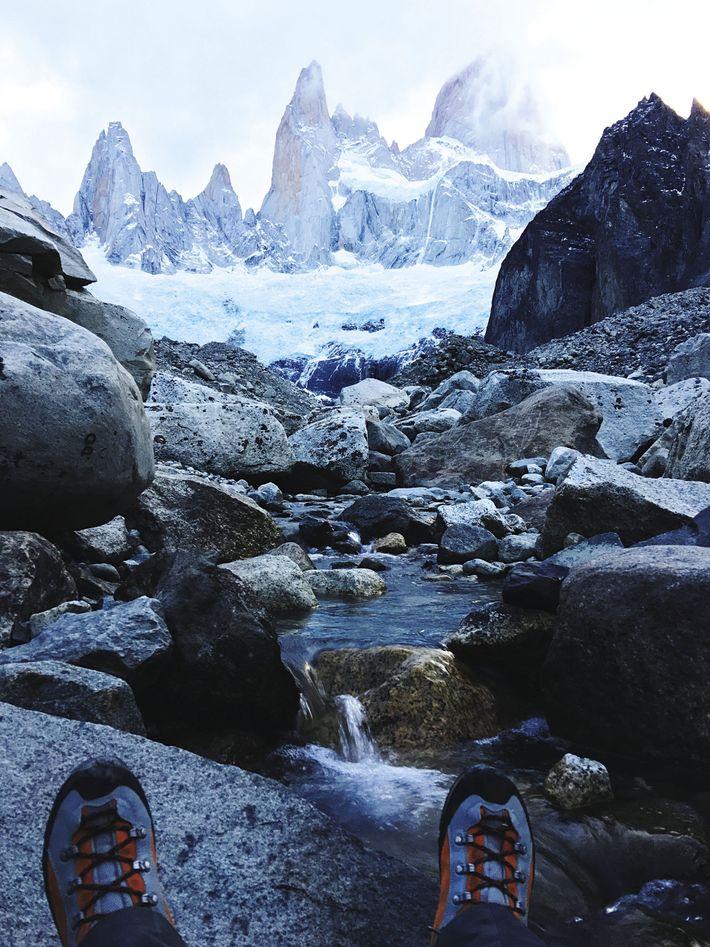 Resting in Torres del Paine National Park