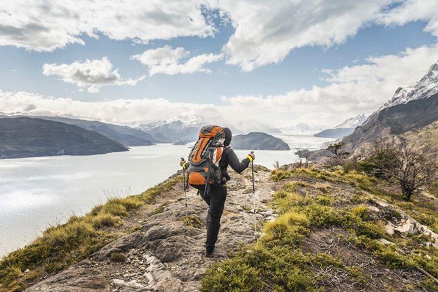 Hiking towards the Grey Glacier. Image: Alamy