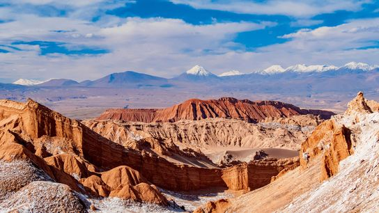 The otherworldly dunes and salt caves of Valle de la Luna ('valley of the moon'), lie eight ...