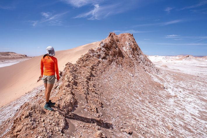 Local guide, Lily Marchant, is a local guide who has lived in the arid ocean that ...