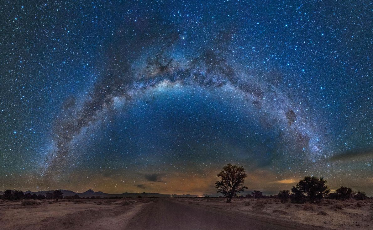 The Milky Way shines over the Atacama Desert. The northern Chilean region is known for its ...
