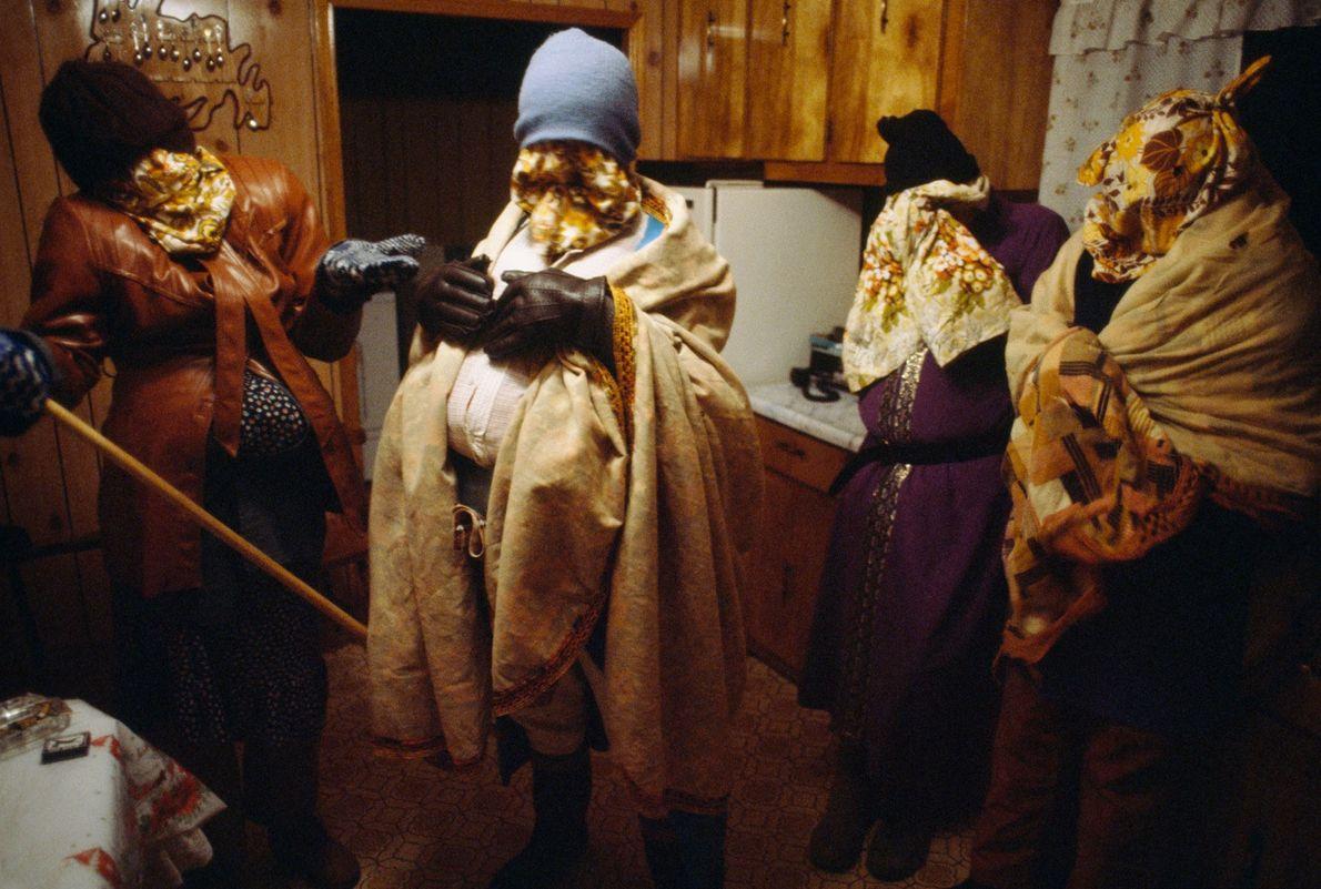 Under layers of clothing, blankets, and hats, neighbours in Newfoundland went door-to-door in disguise in 1984 ...
