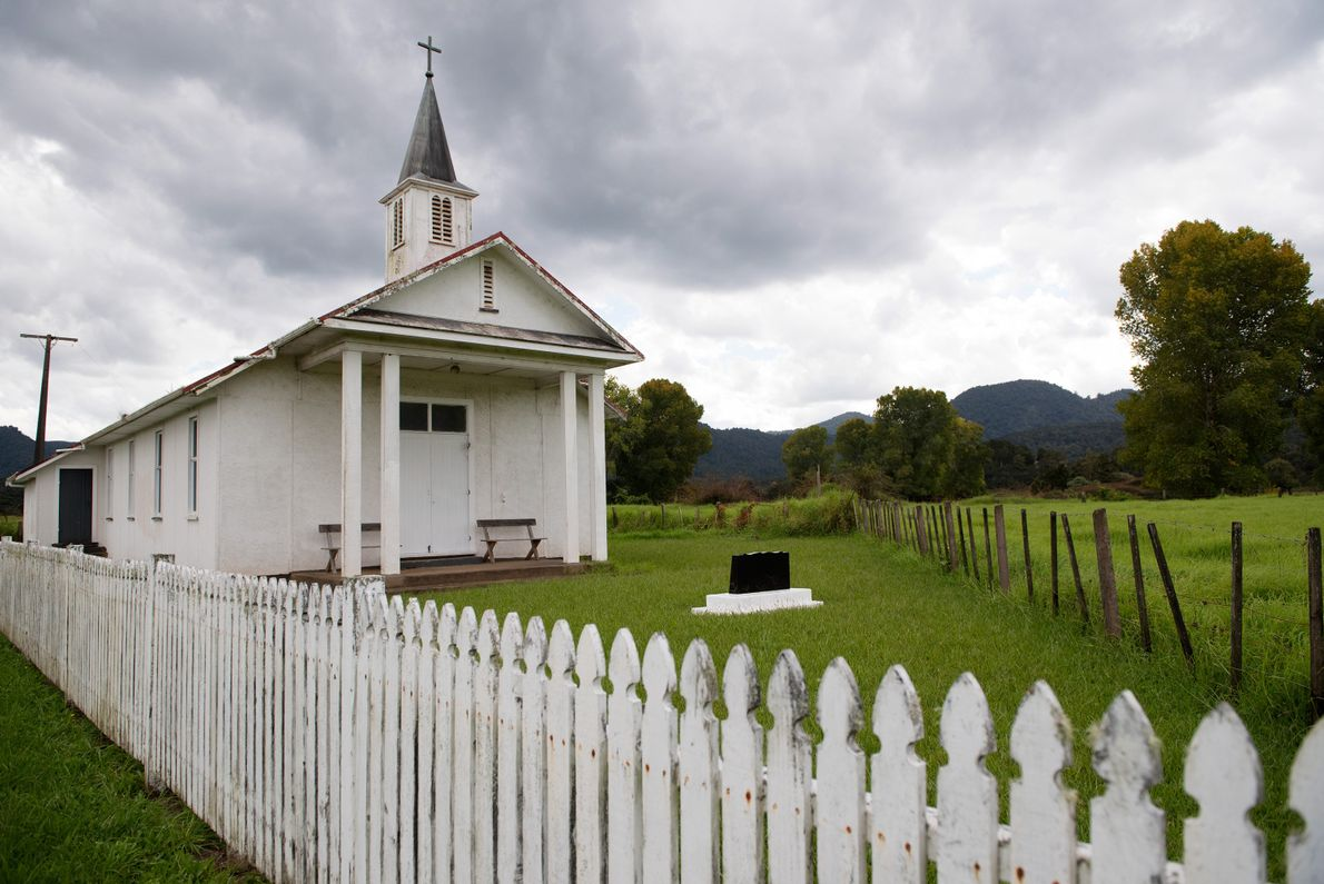 A church in New Zealand's Northland region that is also home to the Omahuta Kauri Sanctuary, ...