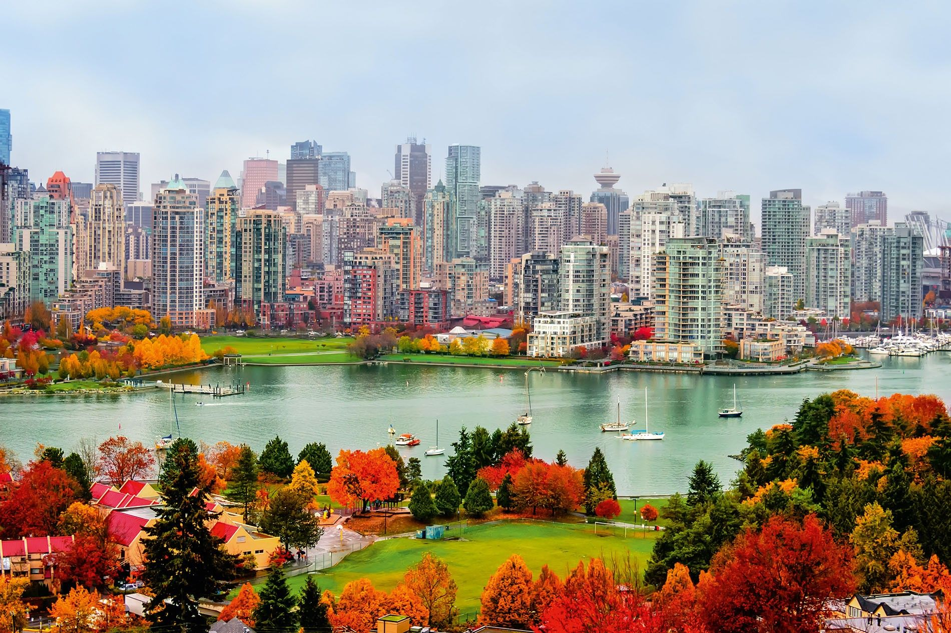 The skyline of Vancouver.