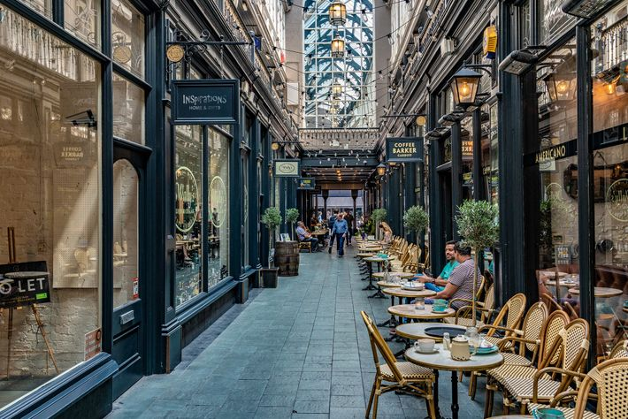 Castle Arcade — one of the Cardiff's many Victorian covered streets.