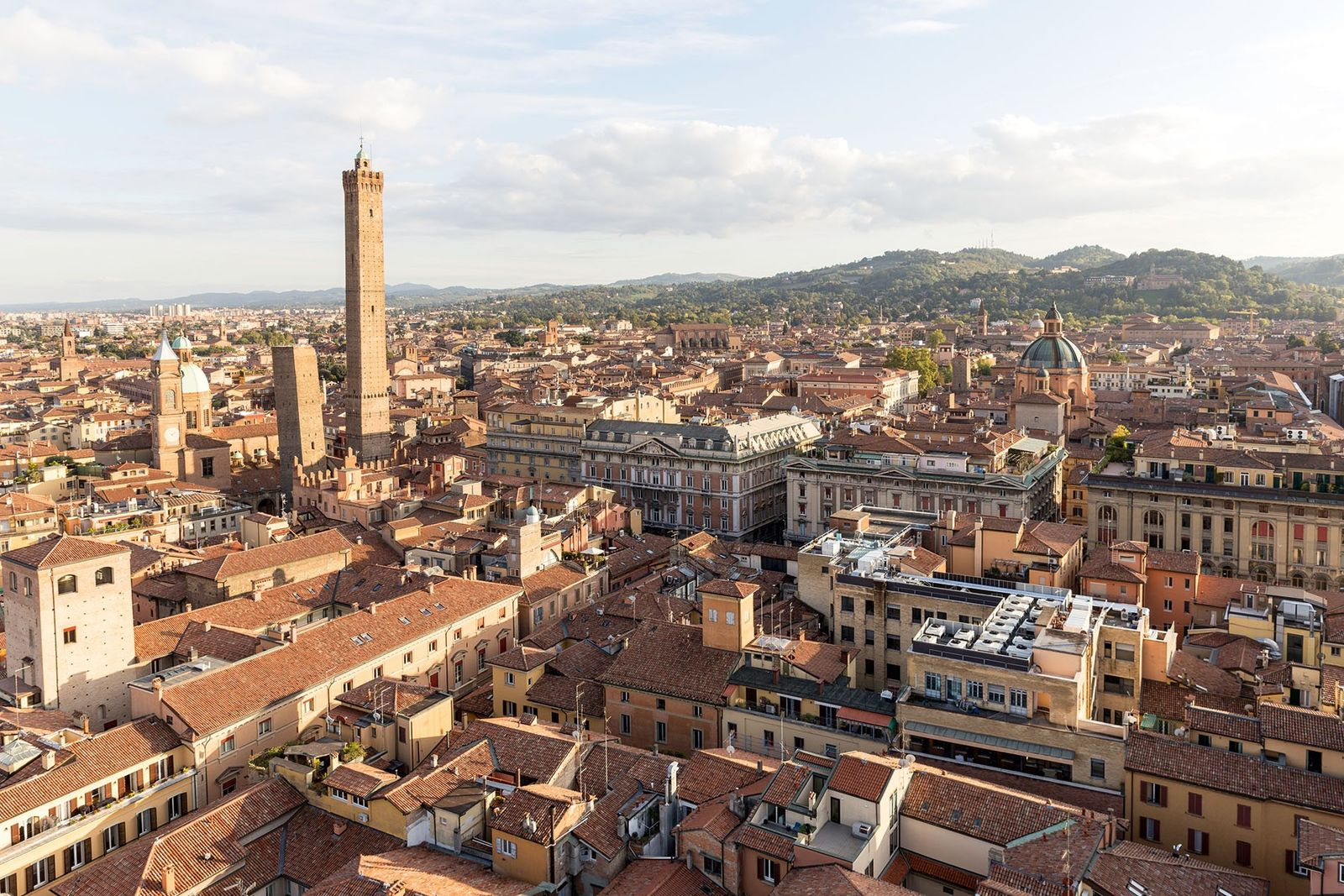 Travellers unafraid of a climb can enjoy a panoramic view of Bologna from the top of ...