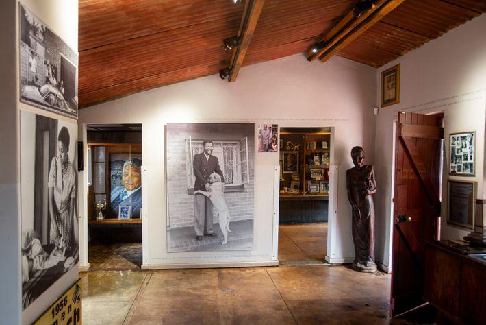 The Mandela House Museum located onVilakazi Street, where Nelson Mandela lived from 1946 to 1962.