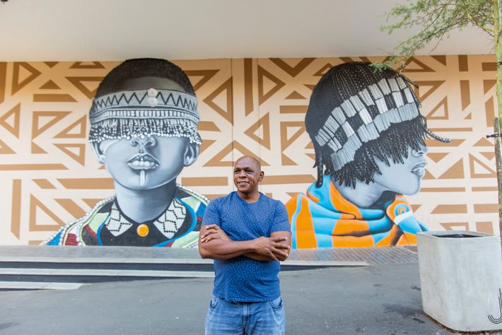 Tumi Mokgope, guide and resident of Melville – one of the city's hippest nightlife areas.