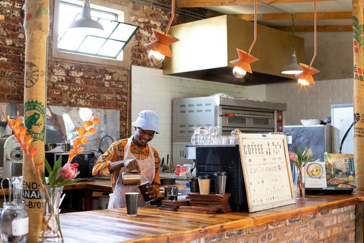 One ofVictoria's Yards many cafes.Conceived to provide jobs, food and healthcare to residents, as well as ...