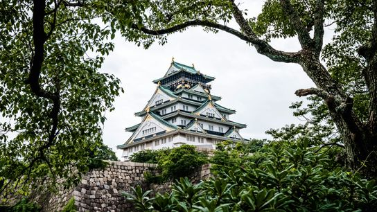 Osaka Castle, originally commissioned by warlord Toyotomi Hideyoshi in 1583.