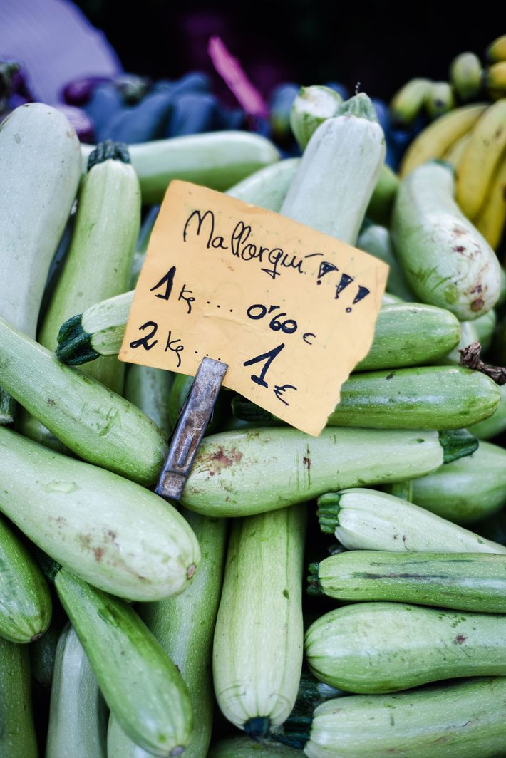 Locally grown summer squash for sale in one of the city's markets.