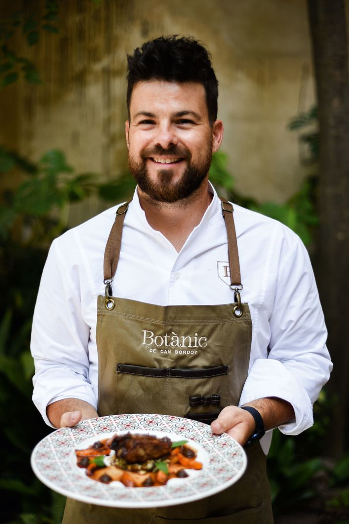 Chef Andrés Benítez from Botànic at the Can Bordoy Grand House & Garden.