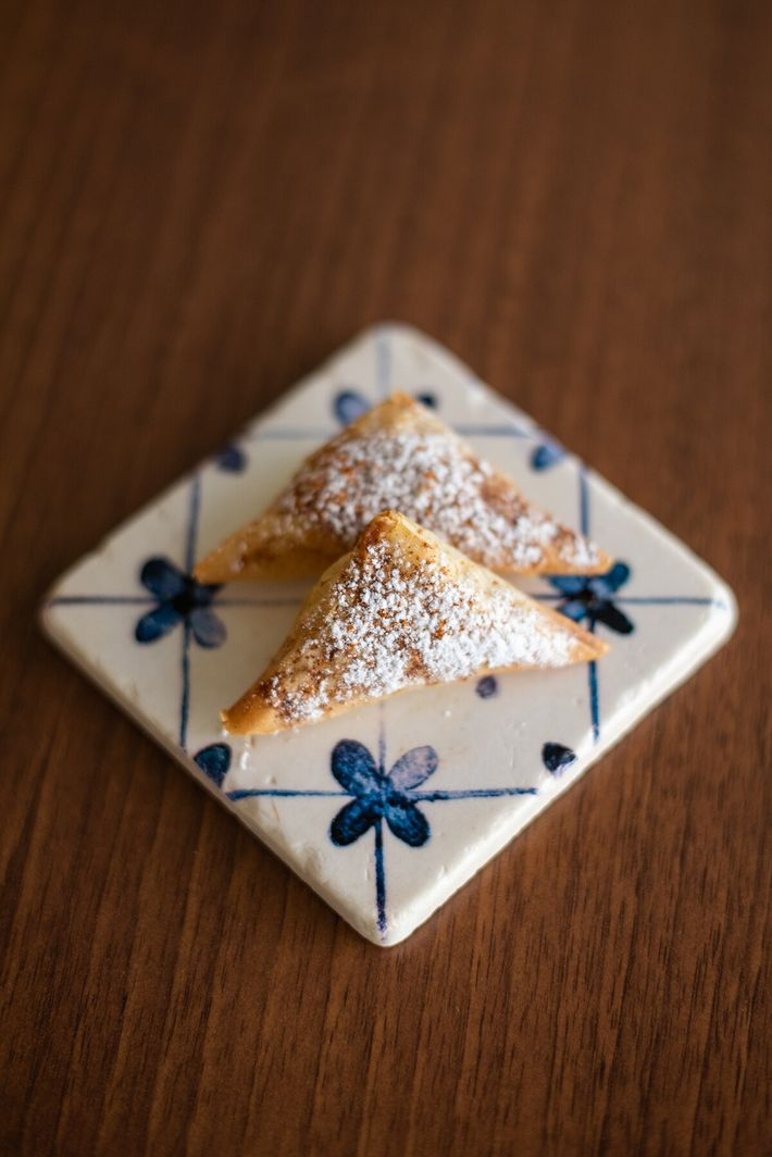 Sugared pastries at Almeja restaurant, where chef João Cura offers dishes influenced by his travels in ...
