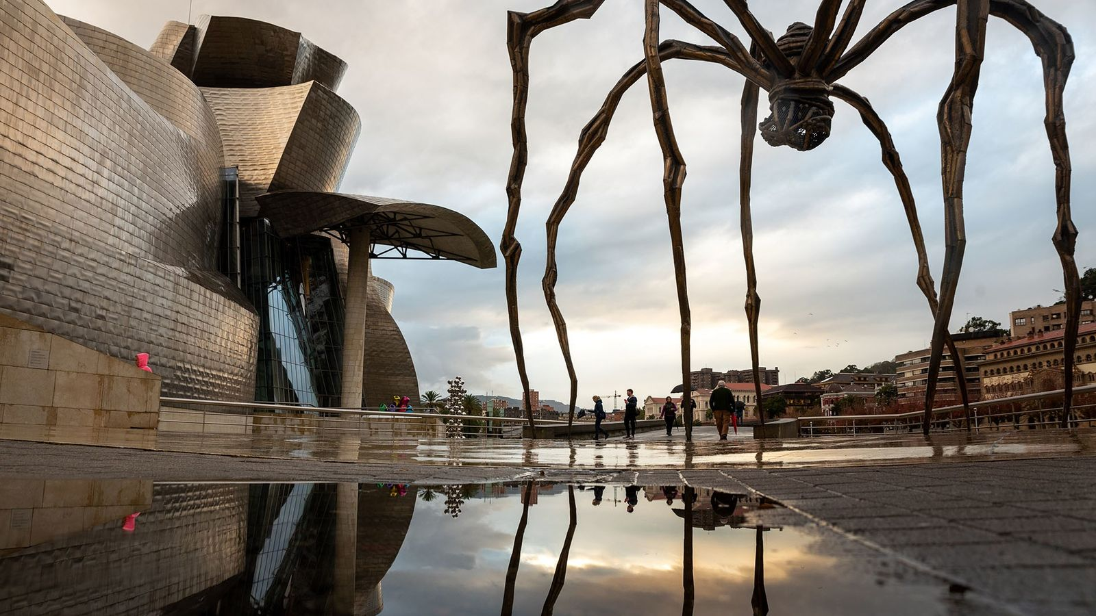 Louise Bourgeois' sculpture Maman, over 30ft high, sits outside the Guggenheim Musuem Bilbao.