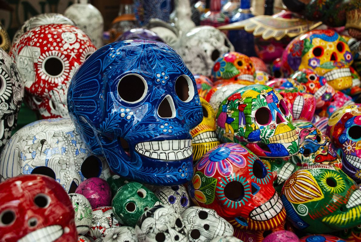 "Calaveras Pintadas are decorative skulls made from clay. Your Shot photographer Sampath Menon ""found these in ..."