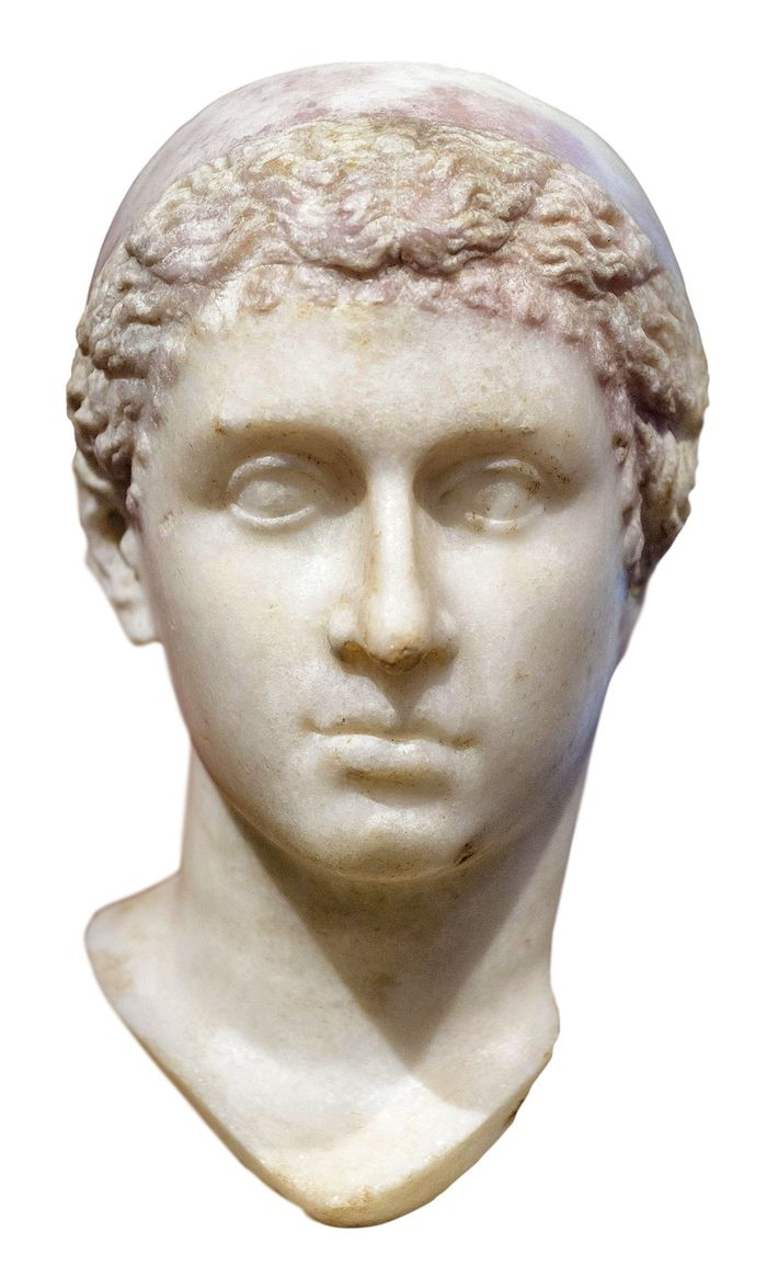 A bust of Caesarion's mother, Cleopatra, held in the Neues Museum, Berlin