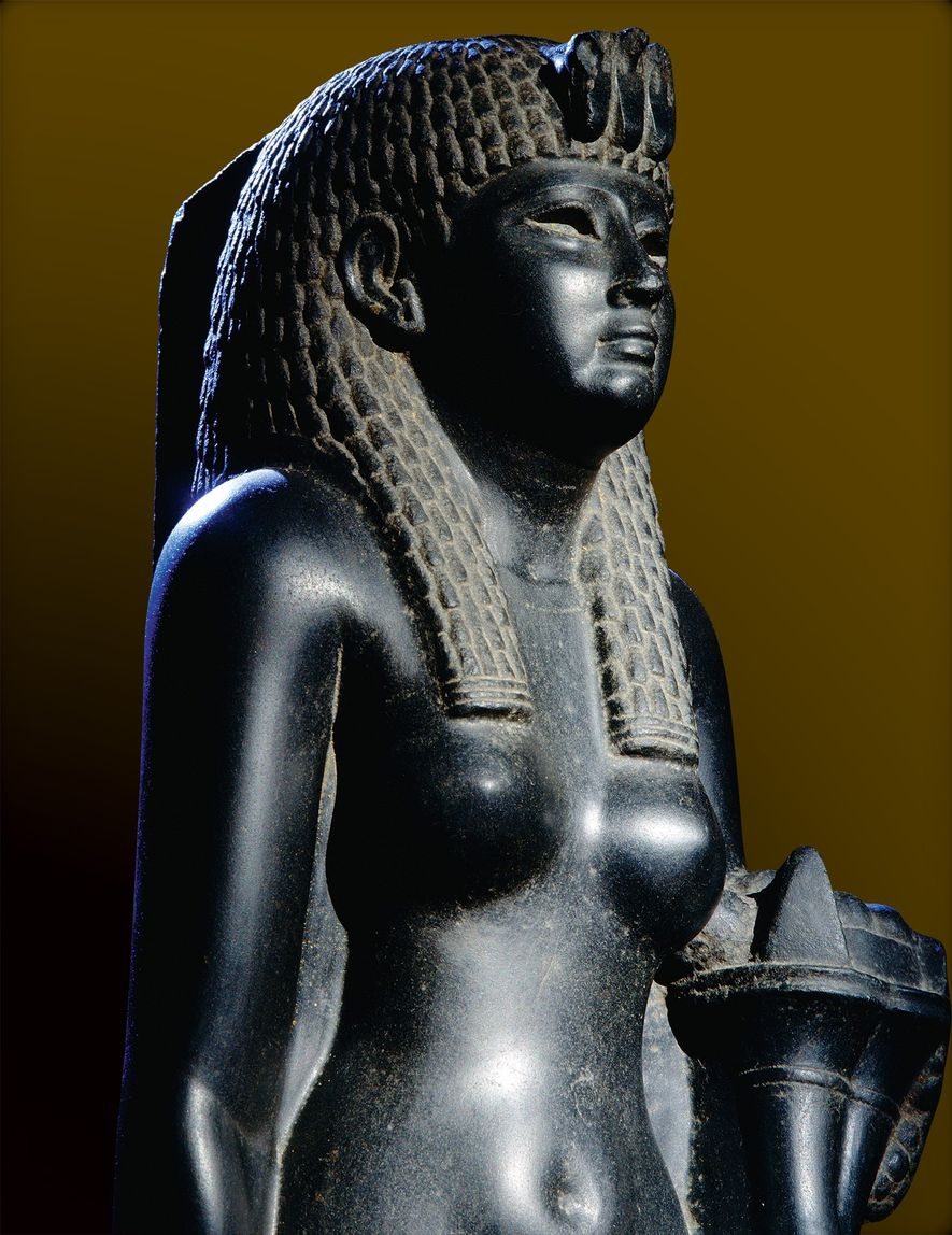 This black basalt statue of Cleopatra is one of the few surviving depictions of the last ...