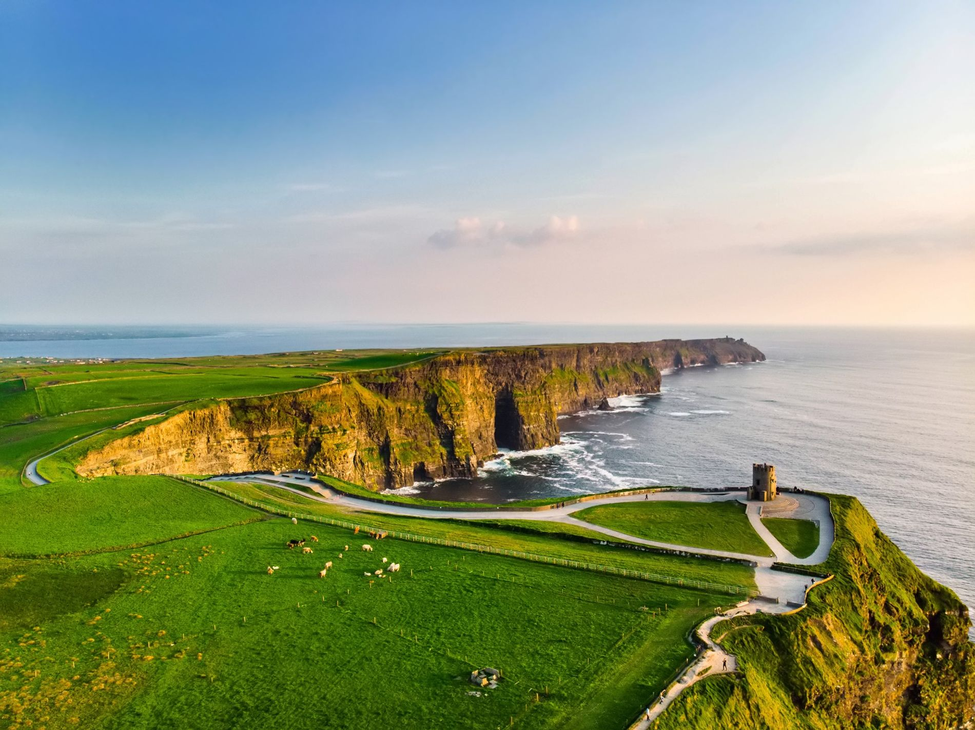 Paths edging the Cliffs of Moher provide some of Ireland's most spectacular views.