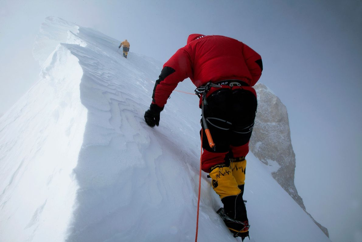 The first winter ascent of Gasherbrum 2 was a National Geographic expedition by Alpinist Cory Richards.