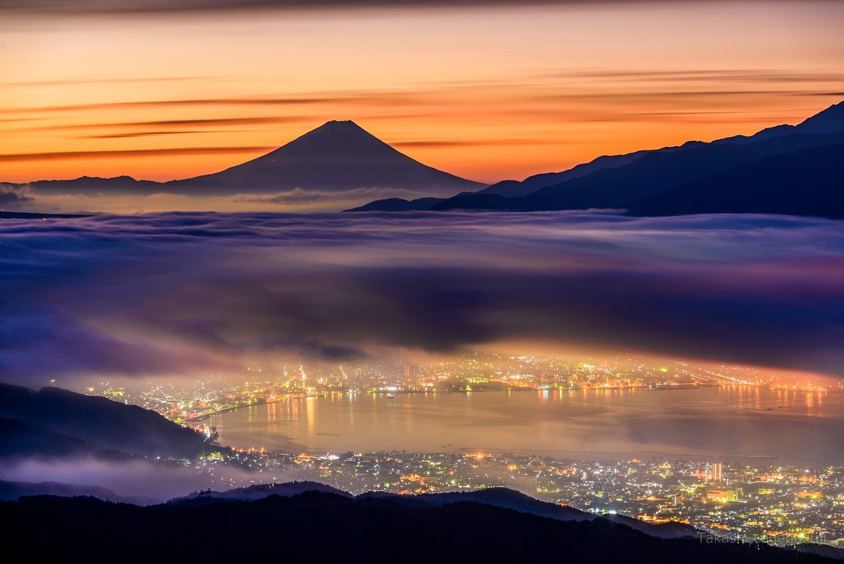 About 60 miles from Mount Fuji, the Takabochi Highlands provide a unique view of the landscape.