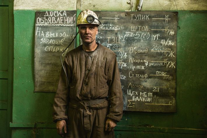 Igor Voronkin surfaces at the Barentsburg coal mine on Spitsbergen, in Norway's Svalbard archipelago. Like most ...