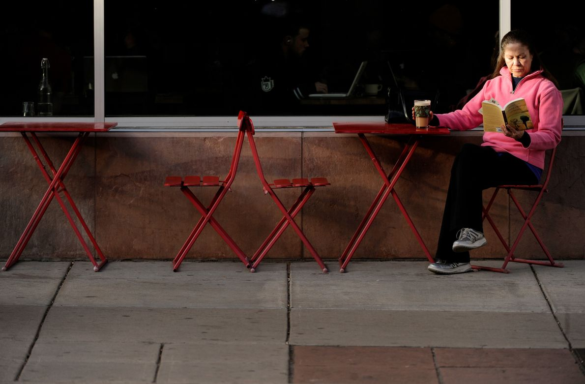 On a warm day in Boulder, you can find many outdoor cafes to enjoy the sun ...