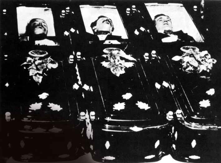 The three men killed by the Earp brothers and Holliday were photographed in their caskets: (from ...