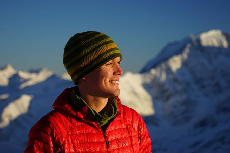 O'Brady smiles while on a trek near Russia's Mount Elbrus.