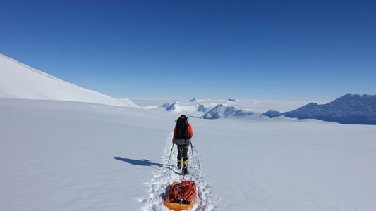Solo ski mission across Antarctica