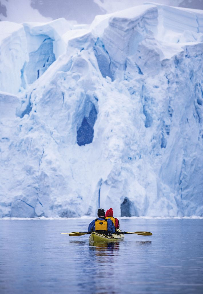 Kayakers in Antarctica