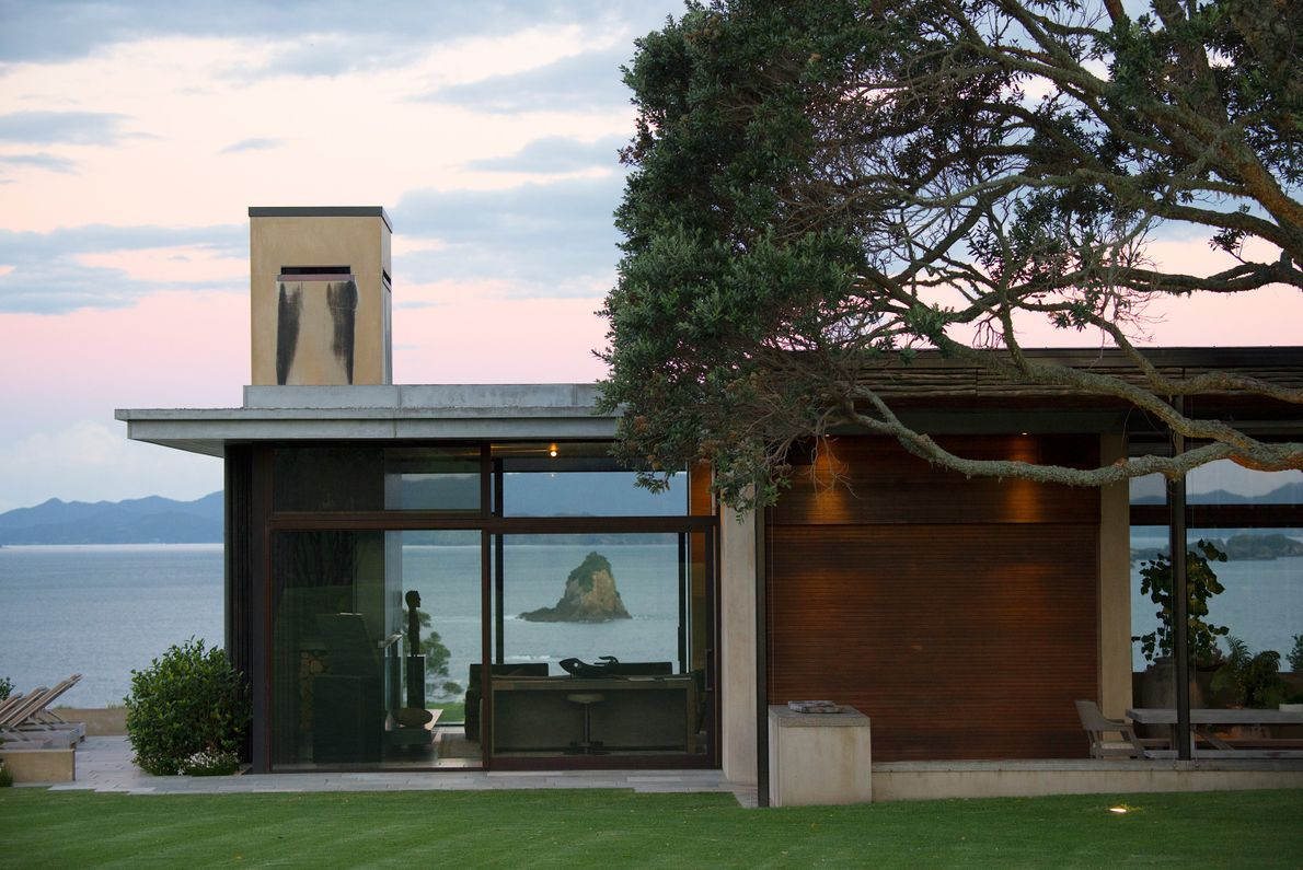 This residence at The Landing comes complete with floor-to-ceiling window views of the Bay of Islands.