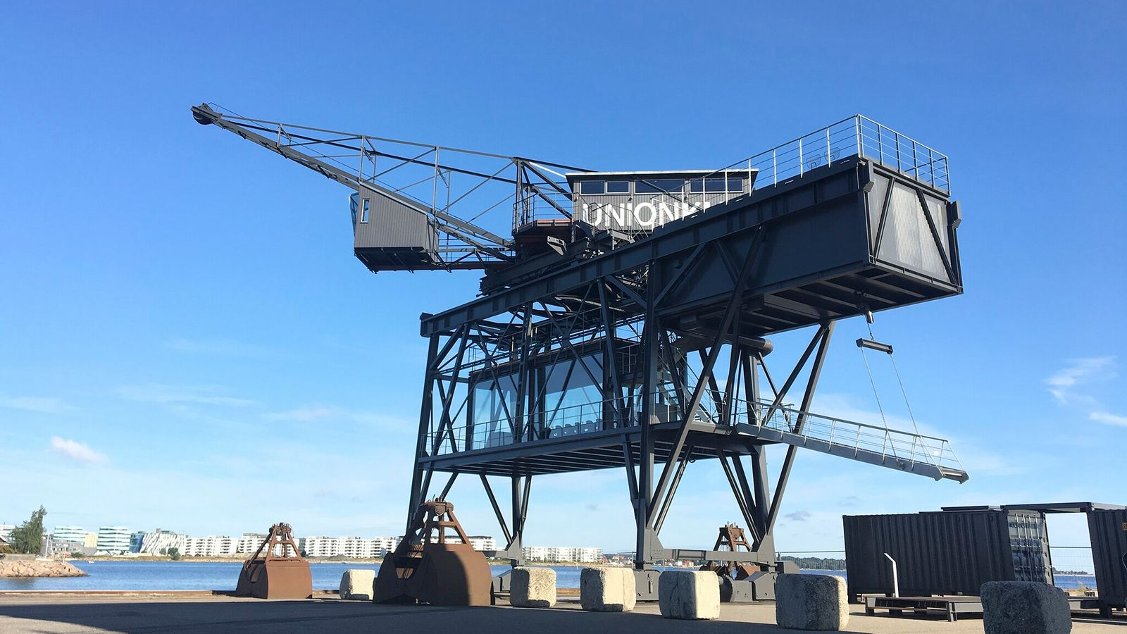 In Copenhagen, you can now check into the engine room of an industrial crane.