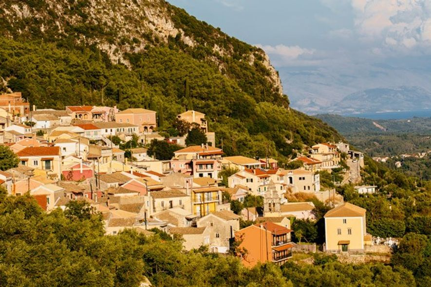 Lakones village, Corfu island. Image: Getty