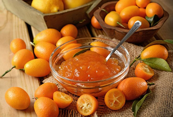 The kumquat is a citrus fruit only slightly bigger than a grape. In contrast with other ...