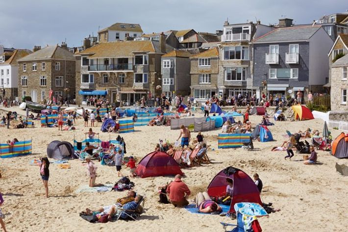The beach at St Ives. Image: Getty