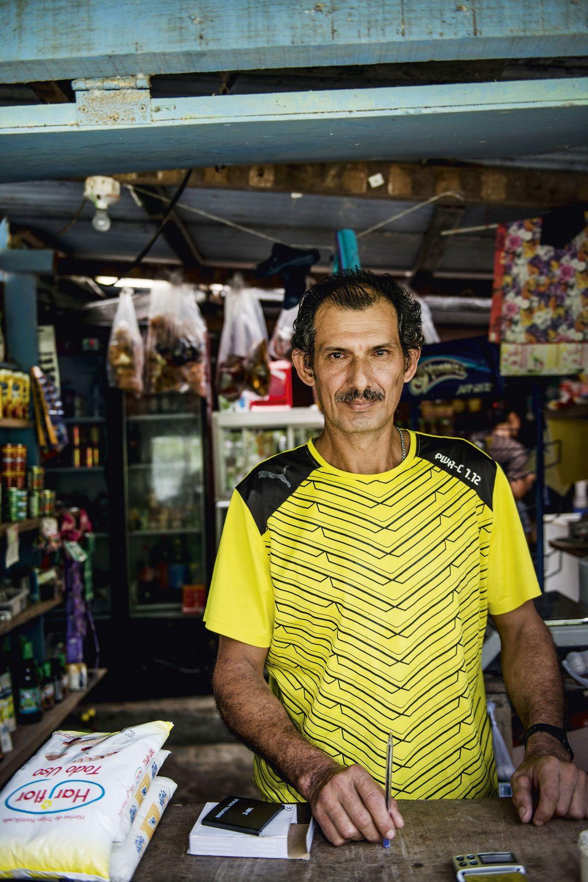 Alberto at the shop