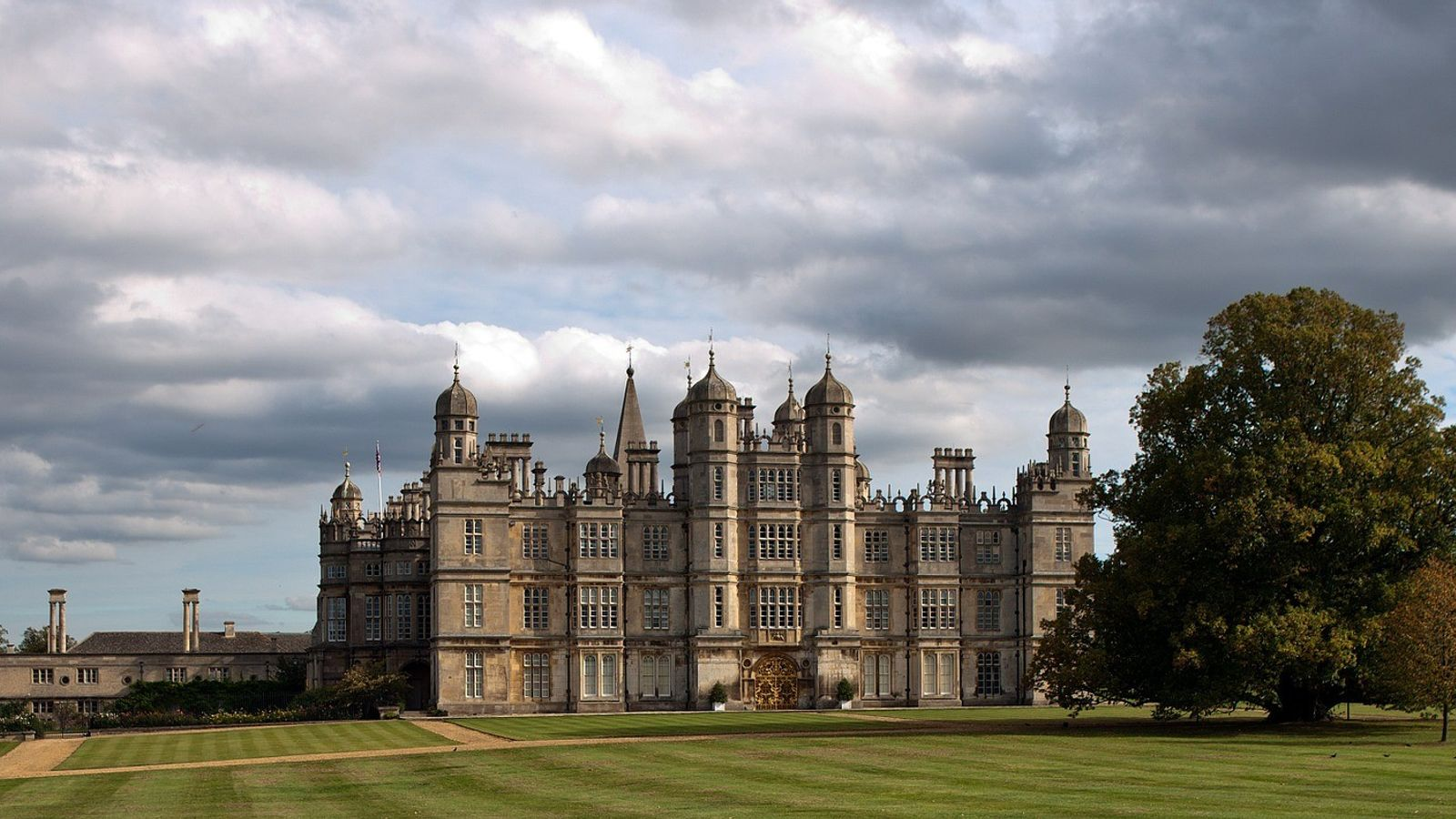 Burghley House holds the famous international horse trials in September every year.