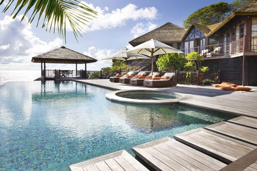 Poolside at Fregate Island Private