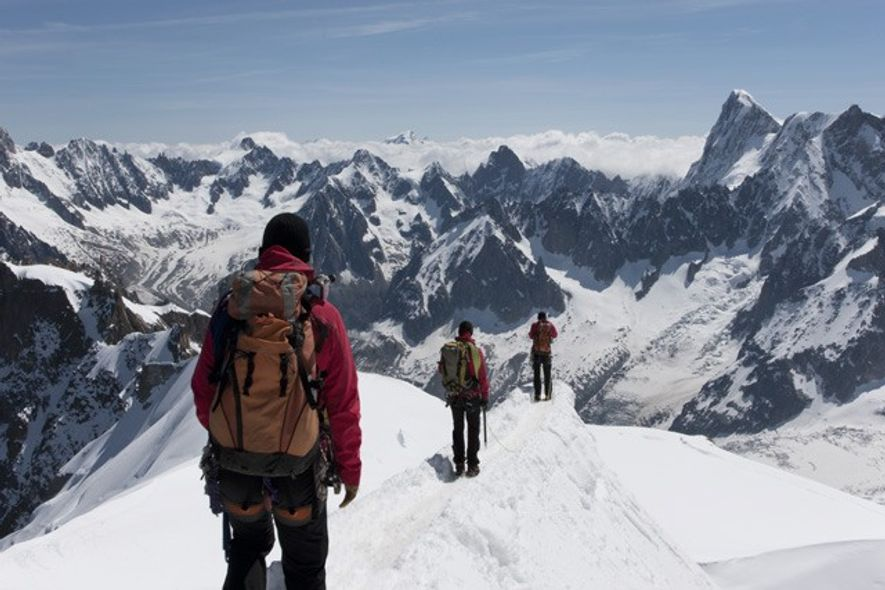 On the border: Mont Blanc. Image: Getty