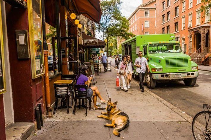 MacDougal Street in Greenwich Village.