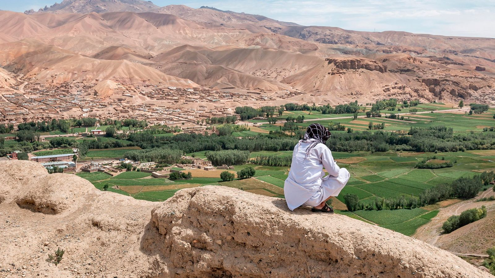Sweeping views across the Bamiyan Valley, Afghanistan.