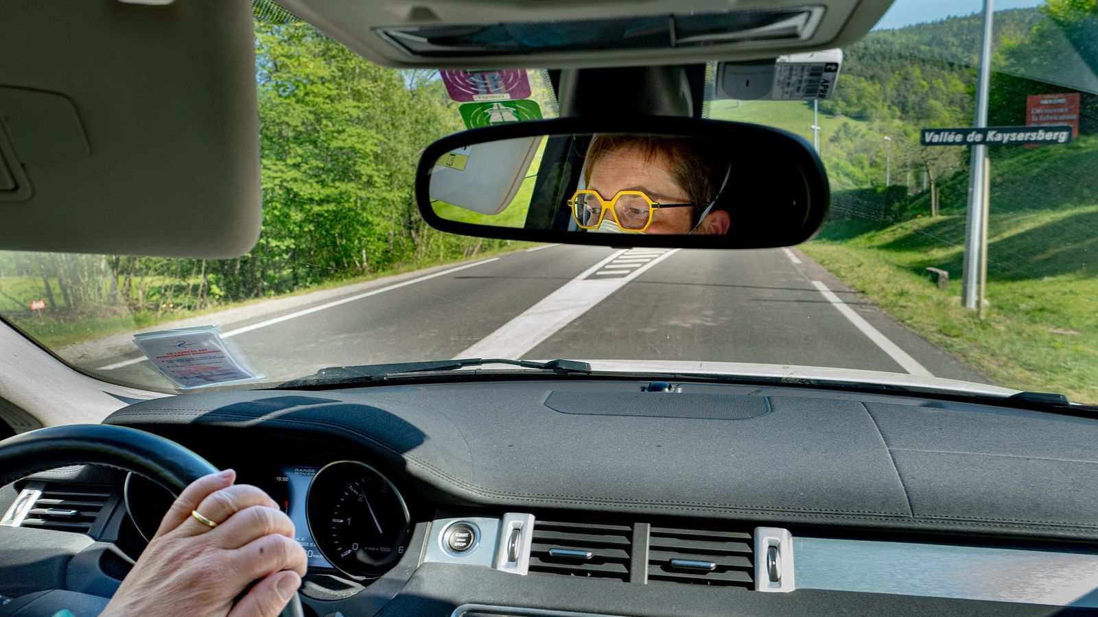 Dr. Spihlmann drives around the Haute-Alsace region in her white Range Rover, which allows her to ...